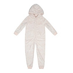 J by Jasper Conran - Girls' pink embossed horse onesie
