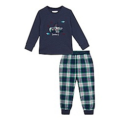 J by Jasper Conran - Boys' blue submarine long sleeve pyjama set