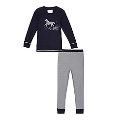 J by Jasper Conran - Girls' navy horse pyjama set