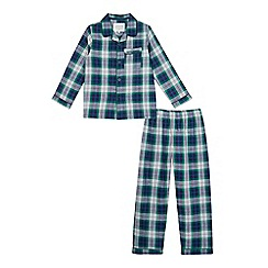J by Jasper Conran - Boys' green check pyjama set