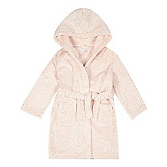 bluezoo - Girls' light pink spotted dressing gown