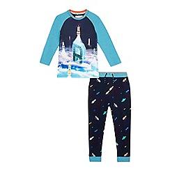 Baker by Ted Baker - Boys' navy space print pyjama set