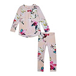 Baker by Ted Baker - Girls' pink floral print pyjama set