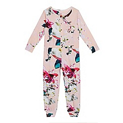 Baker by Ted Baker - Girls' pink floral print onesie