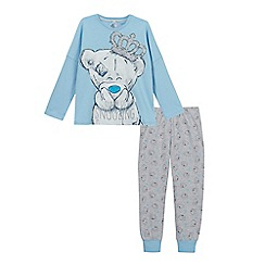 Tatty Teddy - Girls' blue and grey 'Me To You' bear print pyjama set