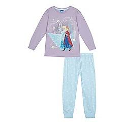 Disney Frozen - Girls' lilac and blue 'Frozen' pyjama set