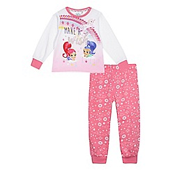 Shimmer N Shine - Girls' pink 'Shimmer & Shine' pyjama set
