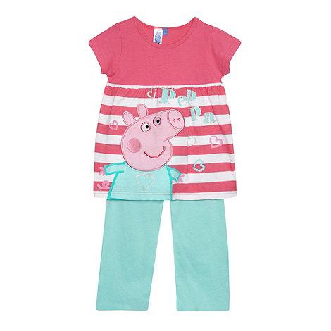 Peppa Pig - Girl+s pink +Peppa Pig+ pyjama set