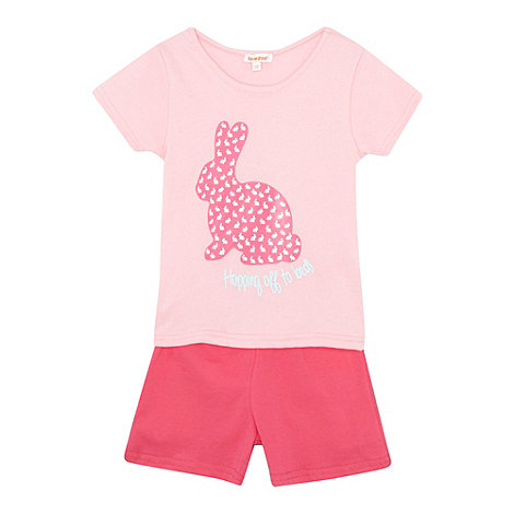 bluezoo - Girl+s pink bunny printed pyjama set