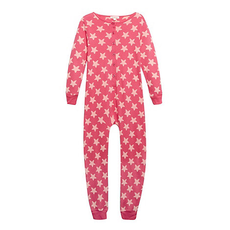 bluezoo - Girl+s pink star patterned onesie