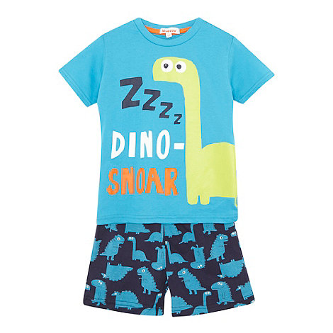 bluezoo - Boy+s blue dinosaur printed pyjama set