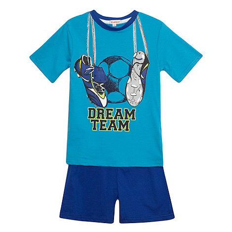 bluezoo - Boy's blue 'Dream Team' pyjama set