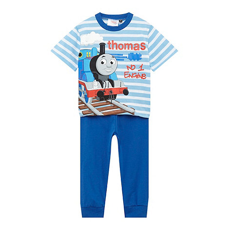 Thomas & Friends - Boy+s blue +Thomas+ striped pyjama set