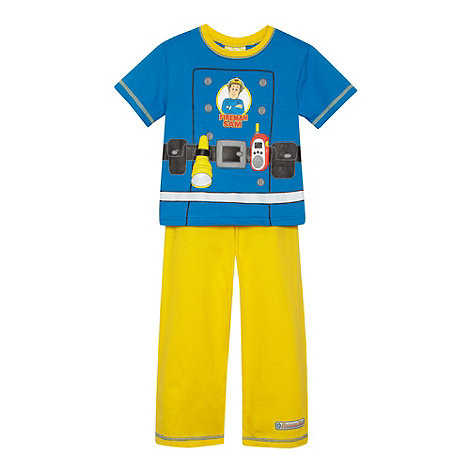 Fireman Sam - Boy+s blue +Fireman Sam+ pyjama set