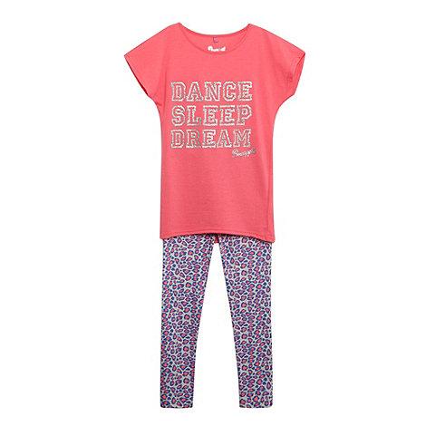 Pineapple - Girl+s pink animal pyjama set