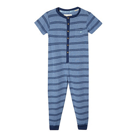 Mantaray - Boy+s blue striped onesie