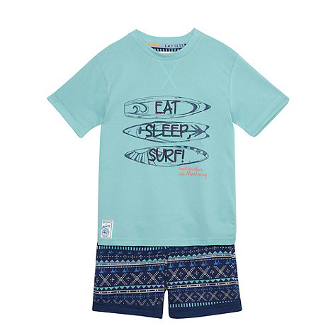 Mantaray - Boy+s green surf pyjama set