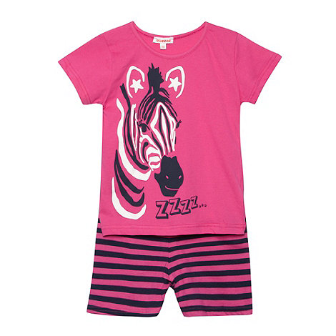 bluezoo - Girl+s pink zebra printed pyjama set