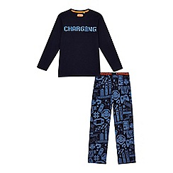 bluezoo - Boys' blue 'Charging' pyjama set