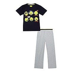 bluezoo - Boys' navy emoji print pyjama set