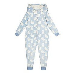 bluezoo - Girls' blue bunny onesie