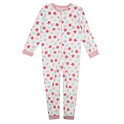 bluezoo - Girl's cream star zip fastening onesie