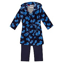 bluezoo - Boy's blue dressing gown, top, and bottoms set