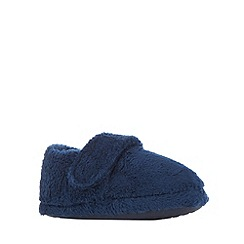 bluezoo - Boy's navy fleece slippers