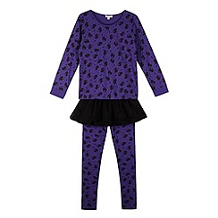 bluezoo - Girl's Halloween cat pyjama set with tutu