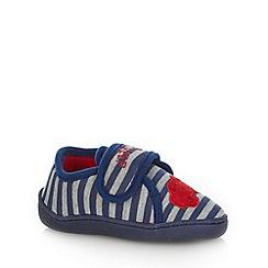 bluezoo - Boy's navy applique car slippers