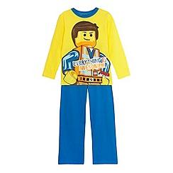 Lego - Boy's yellow 'Lego' pyjama set