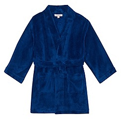 bluezoo - Boy's blue fleece dressing gown