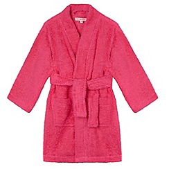 bluezoo - Girl's pink towelling dressing gown