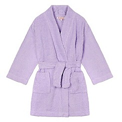 bluezoo - Girl's lilac towelling dressing gown