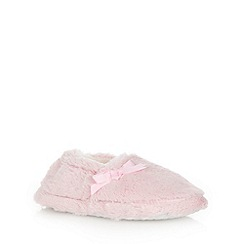bluezoo - Girl's pink faux fur slippers