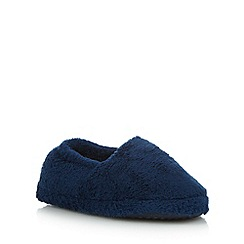 bluezoo - Boy's blue fleece slippers