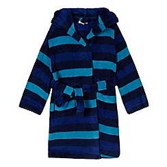 bluezoo - Boys' blue striped fleece dressing gown