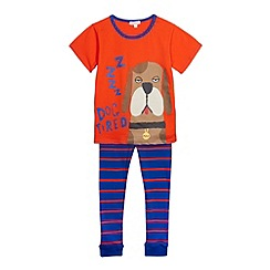 bluezoo - Boy's orange dog printed pyjama set