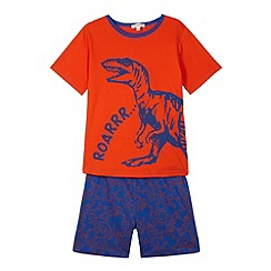 bluezoo - Boy's orange dinosaur pyjamas