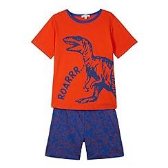 bluezoo - Boy's orange dinosaur pyjamas
