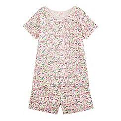 bluezoo - Girl's pink dragonfly pyjama set