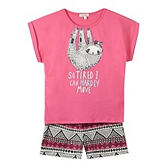 bluezoo - Girl's pink 'So Tired' pyjama set