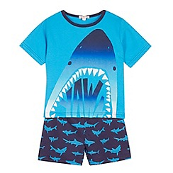 bluezoo - Boy's blue shark pyjama set