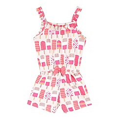 bluezoo - Girl's pink ice lolly playsuit