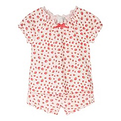 J by Jasper Conran - Designer girl's pink raspberry printed pyjama set