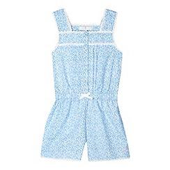 J by Jasper Conran - Designer girl's blue floral playsuit