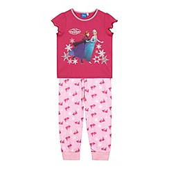 Disney Frozen - Girl's pink 'Frozen' printed pyjama set