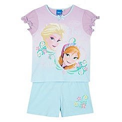 Disney Frozen - Girl's aqua 'Frozen' top and shorts set