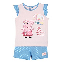 Peppa Pig - Girl's 'Peppa Pig' pink short and top set