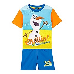 Disney Frozen - Boy's blue 'Olaf' top and short set